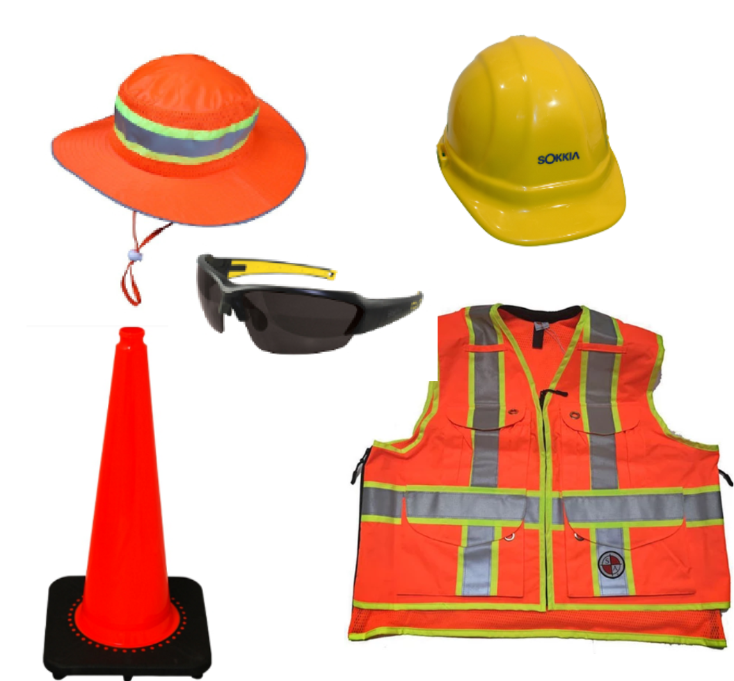 SAFETY ITEMS- VEST - FLAGS- CONES